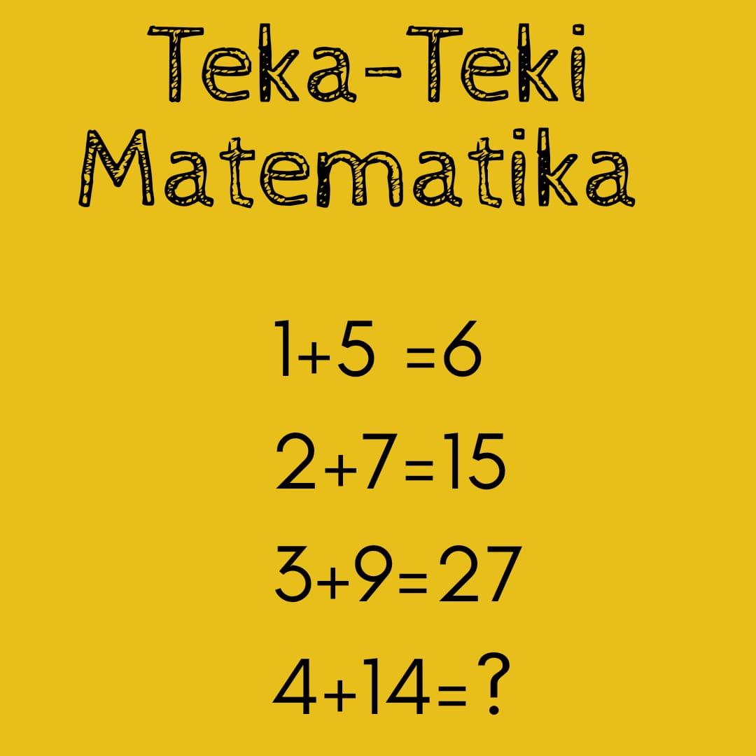 Uji Kecerdasan Dengan Teka Teki Matematika Bintang Sekolah Indonesia