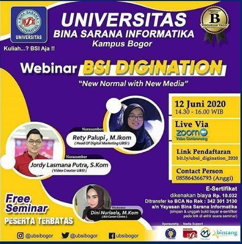 New Normal with New media; Webinar UBSI Kampus Bogor