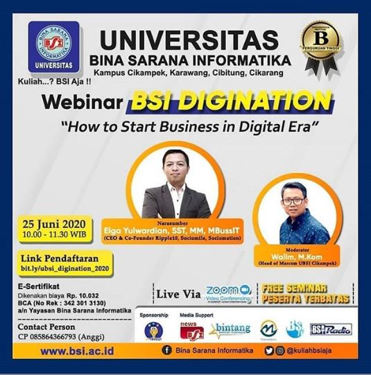 How to Start Business in Digital Era; Bersama Elga Yulwardian