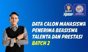 Penerima Beasiswa Talenta dan Prestasi UBSI Batch 2