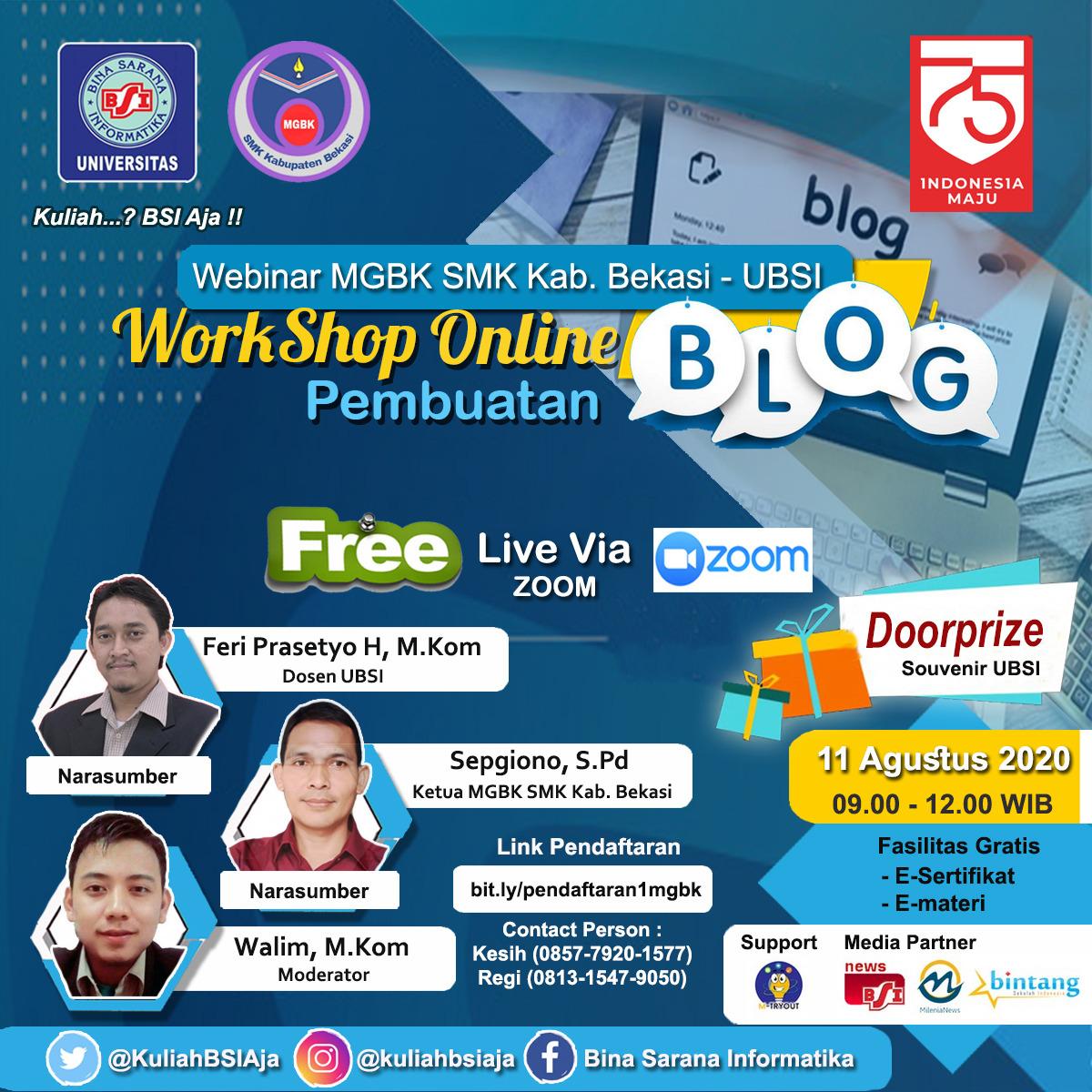 MGBK SMK Kabupaten Bekasi Gelar Workshop online