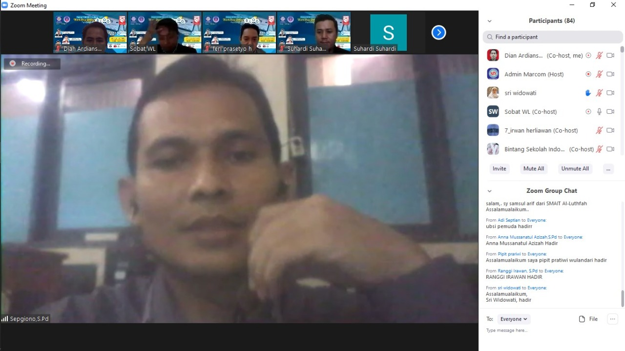 MGBK SMK Kab. Bekasi Sukses Gelar Workshop Online