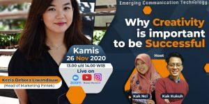 Nusa Mandiri Ajak Millenial Kreatif Agar Sukses
