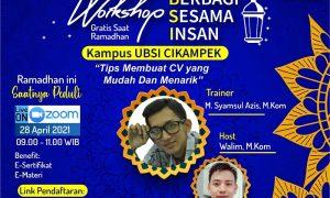 UBSI Cikampek Adakan Workshop Berbagi Sesama Insan Secara Gratis